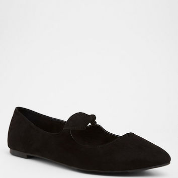Black Bow Mary Jane Flats (Wide Width)