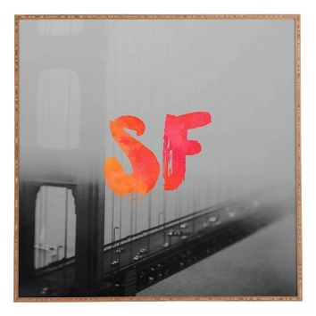 DENY Designs 'Golden Gate Noir' Framed Wall Art | Nordstrom