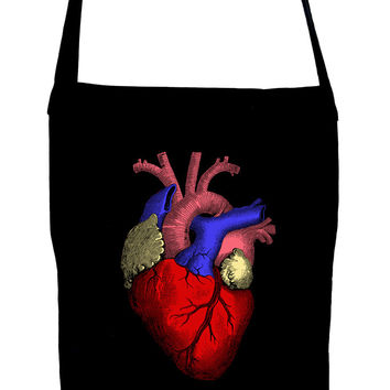 Anatomical Human Heart Sling Bag Medical Oddities Book Bag