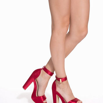 Chunky Satin Sandal, NLY Shoes