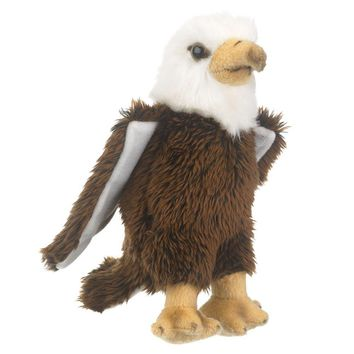 "9"" Bald Eagle Small Stuffed Animals Floppy Zoo Conservation Collection"