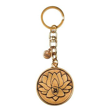 Alex and Ani Lotus Peace Petals Key Chain - Russian Gold