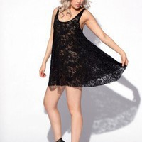 Lace Baby Doll Dress - Black Milk