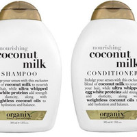 Organix: Nourishing Coconut Milk Shampoo + Conditioner, 13 oz Combo Pack