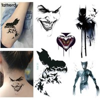 1sheet new Multi-style Cartoon Avengers dark clown Batman Wolverine Temporary Flash Tattoo arm taty Body paint Colorful tatuagem