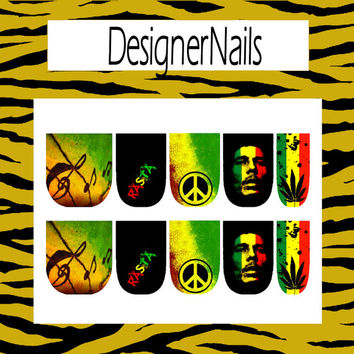 Bob Marley nail decal