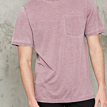 Oil Wash Pocket Tee