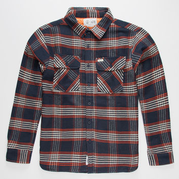Captain Fin Simple Jack Mens Flannel Jacket Navy  In Sizes