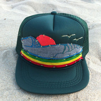 Hand Stitched Trucker hat - YOUTH- Surf