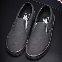 Trendsetter Vans Slip-On Canvas Old Skool Flat Sneakers Sport Shoes