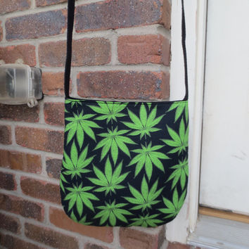 Cannabis Bag - Cross Body Bag - Pot leaf bag - Mary Jane crossbody bag