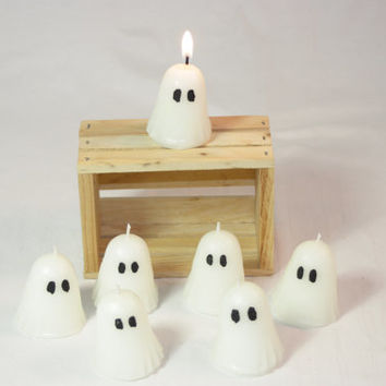 Votive Ghost Candle, Highly Scented Gost Candle, Halloween Candle, Halloween Decor