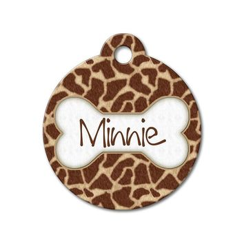 Giraffe - Pattern Pet Tags