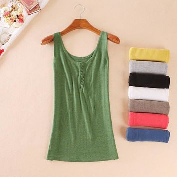 2016 New Spring Summer New Tank Tops Women Sleeveless Round Neck Loose T Shirt Ladies Vest Singlets