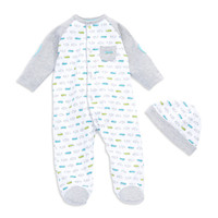 Kids' | Newborn Boys 0-9 Months | Baby Boys Fast Cars Footie Pajamas | Lord and Taylor