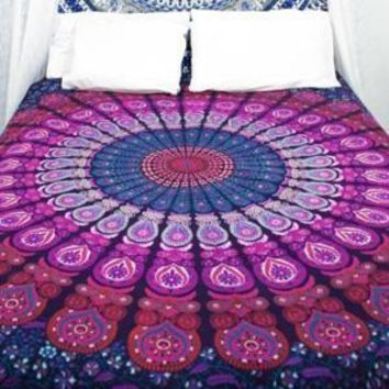 Indian Mandala Tapestry Wall Hanging Tapestry Multifunctional  Bedspread Cover