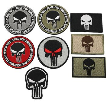 2018 New Punisher's Armband Tactical Army Badge Backpack Embroidery Individualized Patch Military Badge