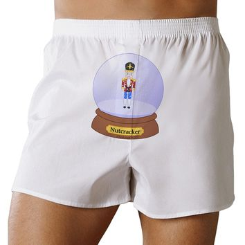 Nutcracker Snow Globe - Red Gold Black Front Print Boxers Shorts by TooLoud