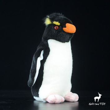 Crested Penguin Stuffed Animal Plush Toy 9""