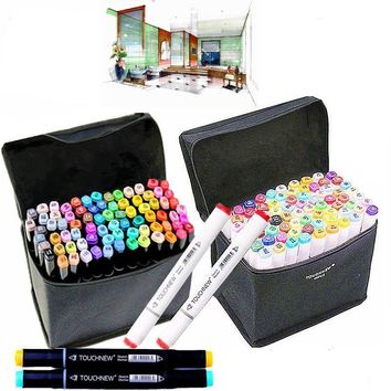 30 40 Colors Drawing Marker Pen Design Artist Dual Head Copic Markers Sketch Set Watercolor Brush Pen Ink Liners For Drawing