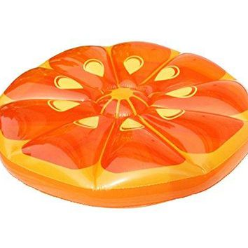 By PoolCentral 49 inch  Inflatable Orange Fruit Slice Swimming Pool Island Lounger Raft Float