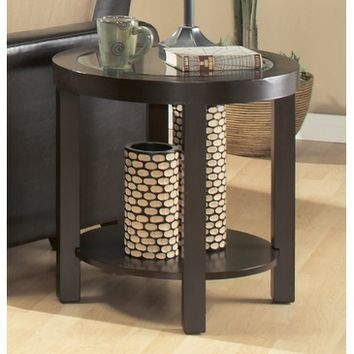 Homelegance Brussel Round End Table in Espresso