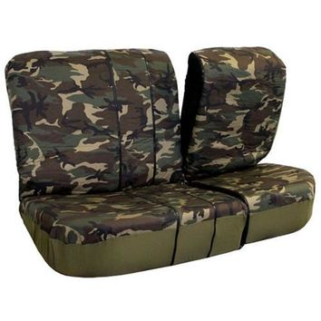 FH Group Camouflage Car Seat Covers Airbag Compatible and Split Bench (Full Set)
