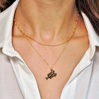 Gold Lobster Necklace, You're My Lobster, Lobster Pendant, Youre My Lobster, You Are My Lobster, Lobster Charm, Gold Layer Necklace