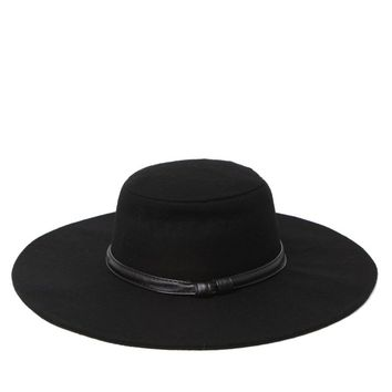 Kendall & Kylie Floppy Panama Hat - Womens Hat - Black - One