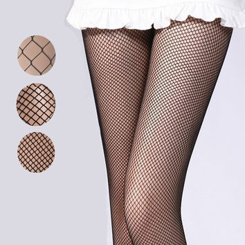 70da1f512 Women Sexy Fishnet Stockings Fishing Net Pantyhose Ladies Mesh Lingerie For  Fema
