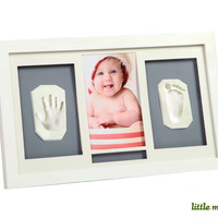 Little Mato Air Drying Clay Handprint & Footprint Baby Keepsake Hanging Wall Photo Frame Kit
