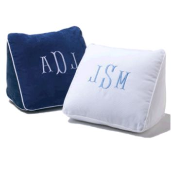Monogrammed Suede Wedge Pillow (Monogram or Name)