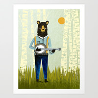 Bear's Bourree Art Print by Andrea Lauren