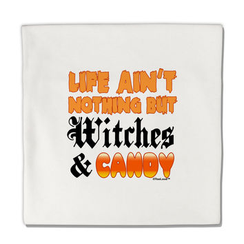 "TooLoud Witches and Candy Color Micro Fleece 14""x14"" Pillow Sham"