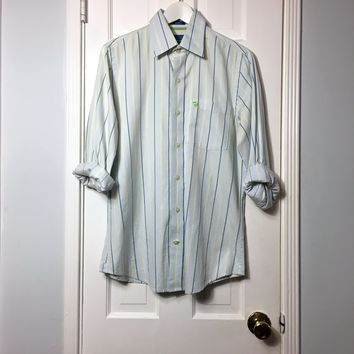 Abercrombie & Fitch men's striped button down long sleeve shirt sz S