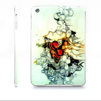 Art iPad mini case - iPad mini cover - Butterfly art - Butterly ipad case - Pop surreal art - Device case - Hardcover iPad mini case -
