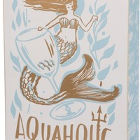 Mermaid Aquaholic Wooden Box Sign