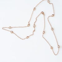 Studded Necklace - Rose Gold