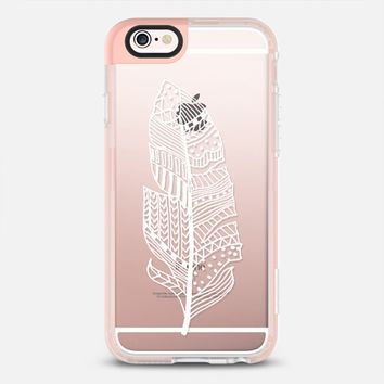 White graphic feather iPhone 6s case by Susanna Nousiainen | Casetify
