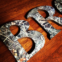 Real Tree Max 4 Wooden letters by CuteNCustom on Etsy