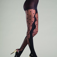 Abstract Polka Dot Pantyhose