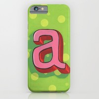 """Happy """"a"""" monogram iPhone & iPod Case by Laura Watson Illustration"""
