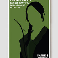"Katniss Everdeen Hunger Games Art Print / Poster 11"" x 17"""