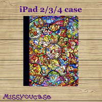 ipad 4 case,ipad 2 case,ipad 3 case,ipad leather case,cute ipad 4 case,cute ipad 3 case,cute ipad 2 case,STAINED Glass,in leather.