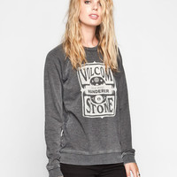 Volcom New Wave Womens Sweatshirt Charcoal  In Sizes