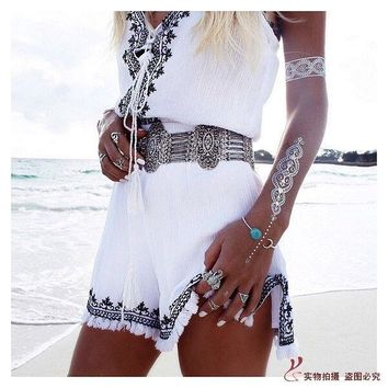 Boho Gypsy Turkish Retro Silver Alloy Exaggerated Sexy Belly Chain Body Chain Dance Costume Women Elastic Metal Belt Waist Chain