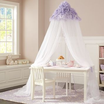 Lavender Ruffle Canopy | Pottery Barn Kids