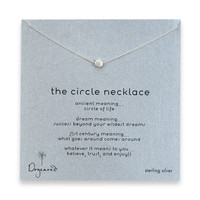 Dogeared, The Circle Necklace, Sterling Silver 16 inch