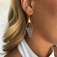 Forever Diamond Earrings in Ice Blue