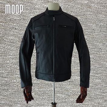 Genuine leather jacket men cowskin biker coats motorcycle jacket chaqueta moto hombre veste cuir homme cappotto free ship LT109